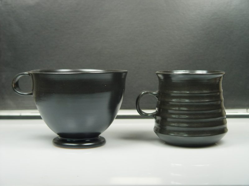 ATTIC BLACK ware two mugs from the Athens Agora