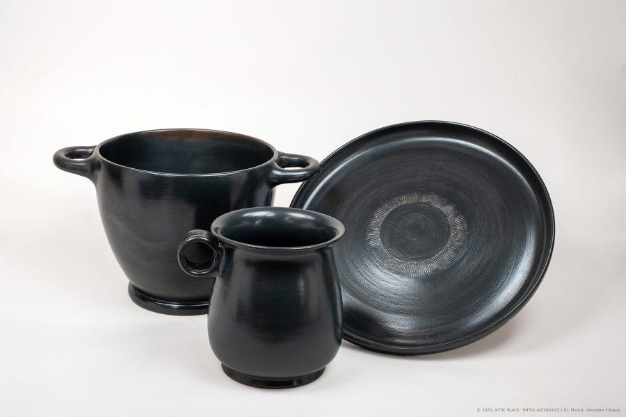 ATTIC BLACK ware mugs and plates