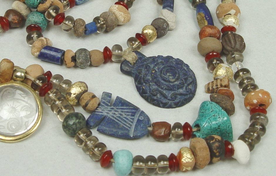 Necklaces with various beads