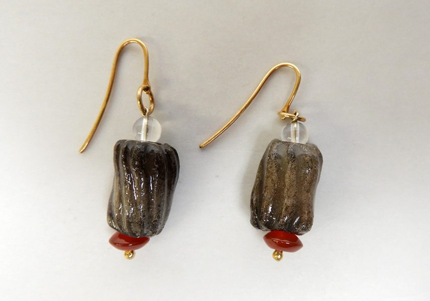 Glazed bead earrings