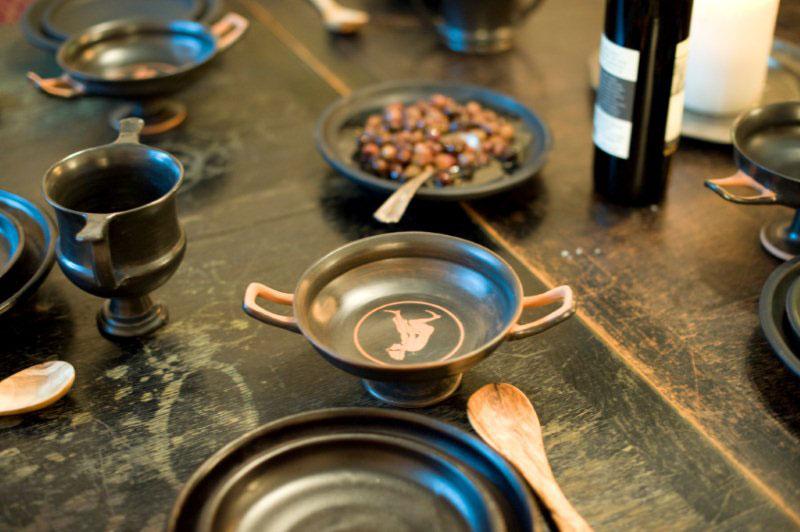 ATTIC BLACK tableware Historic Greek Gastronomy project