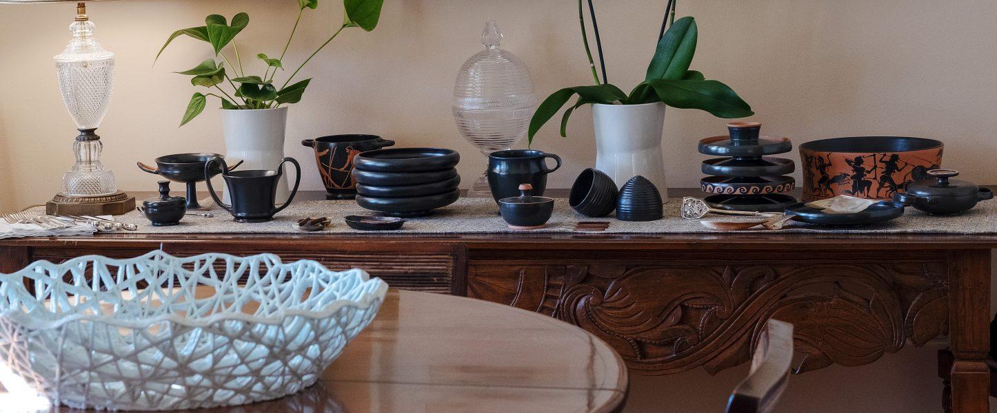 Dining  Black glazed and black figure tableware