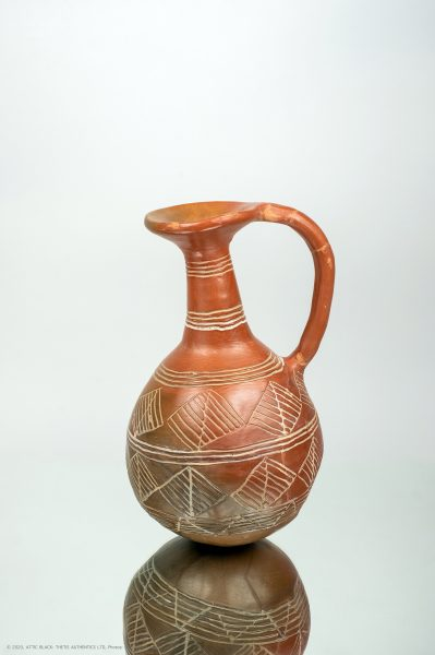 Red polished and incised jug Cyprus