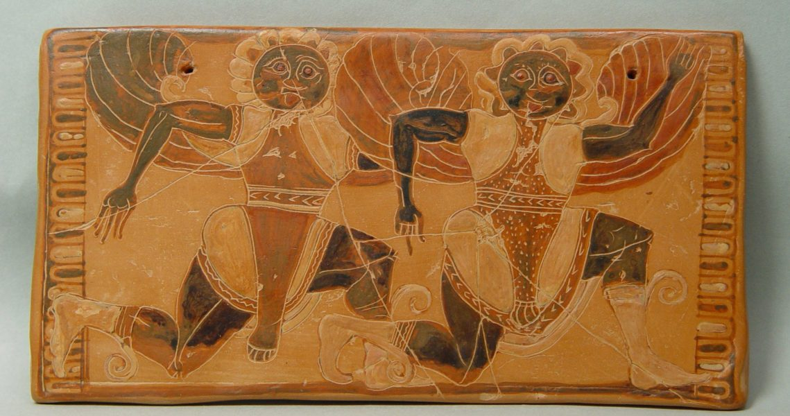 The Acropolis Museum - Travelling exhibition  Decorated pinax from the Sancyuray of the Nymphe