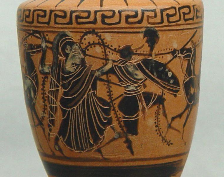 Battle of Marathon's 2,500th Anniversary Celebrations Black figure lekythos - Arch. Museum of Marathon