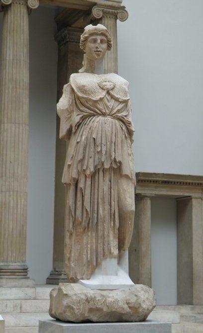 Statue of Athena Parthenos from the Library of Pergamon, Pergamon Museum Berlin