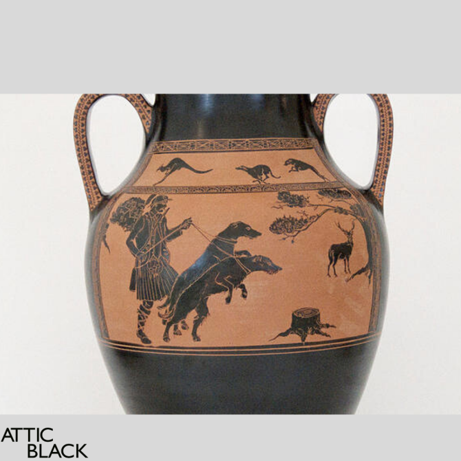 cultured canines - dogs on pottery